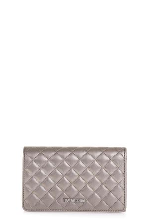 PEWTER COLOR QUILTED FAUX LEATHER BAG FW 2018 LOVE MOSCHINO | 2 | JC4095PP16LOUNI0910