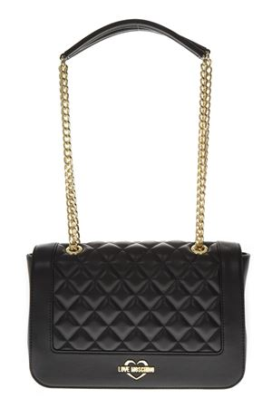 BLACK QUILTED FAUX LEATHER BAG FW 2018 LOVE MOSCHINO | 2 | JC4200PP06KAUNI000A