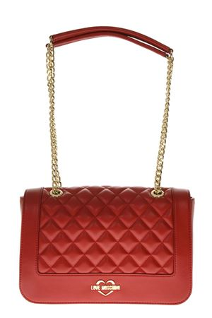 RED QUILTED FAUX LEATHER BAG FW 2018 LOVE MOSCHINO | 2 | JC4200PP06KAUNI0500