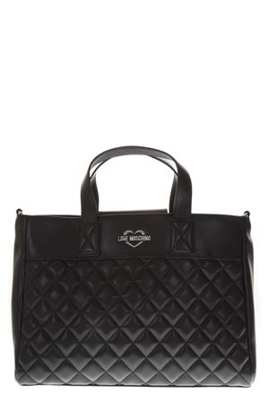 BLACK QUILTED FAUX LEATHER TOTE FW 2018 LOVE MOSCHINO | 2 | JC4212PP06KAUNI000B