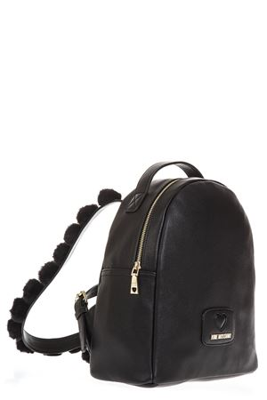 BLACK FAUX LEATHER BACKPACK FW 2018 LOVE MOSCHINO | 2 | JC4287PP06KLUNI0000