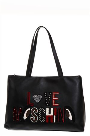 SHOPPER BAG ION ECOPELLE NERA CON LOGO AI 2018 LOVE MOSCHINO | 2 | JC4288PP06KMUNI0000