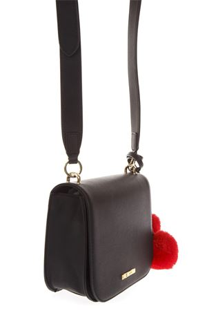 BLACK FAUX LEATHER SHOULDER BAG WITH POM POM FW 2018 LOVE MOSCHINO | 2 | JC4324PP06KW10000
