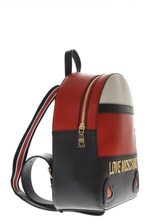 MULTICOLOR FAUX LEATHER BACKPACK FW 2018 LOVE MOSCHINO | 183 | JC4338PP06KZUNI150A