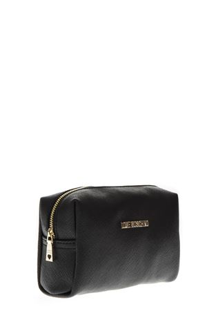 BUSTINA IN ECOPELLE NERA CON ZIP AI 2018 LOVE MOSCHINO | 74 | JC5391PP06LQ00001NERO