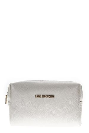 WHITE FAUX LEATHER ZIPPED PURSE FW 2018 LOVE MOSCHINO | 74 | JC5391PP06LQ09021ARGENTO