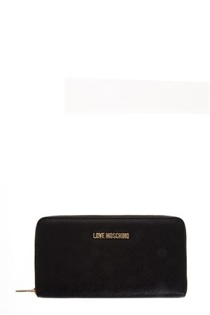BLACK FAUX LEATHER CONTINENTAL WALLET FW 2018 LOVE MOSCHINO | 34 | JC5552PP16LQUNI0000