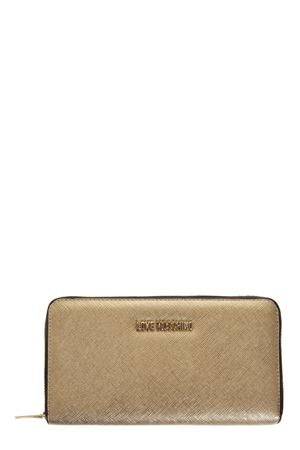GOLD COLOR FAUX LEATHER LOVE MOSCHINO WALLET FW19 LOVE MOSCHINO | 34 | JC5552PP16LQUNI0901