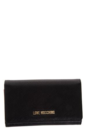 BLACK FAUX LEATHER WALLET FW 2018 LOVE MOSCHINO | 34 | JC5553PP16LQUNI0000