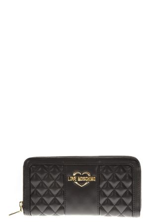 BLACK LEATHER WALLET FW 2018 LOVE MOSCHINO | 34 | JC5573PP06KAUNI000A