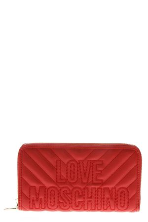 RED QUILTED WALLET IN FAUX LEATHER FW 2018 LOVE MOSCHINO | 34 | JC5585PP06KI05001ROSSO