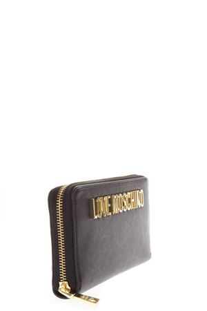 BLACK FAUX LEATHER WALLET WITH LOGO LETTERING FW 2018 LOVE MOSCHINO | 34 | JC5593PP06KU10000