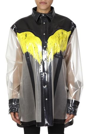 YELLOW/BLACK OVERSIZE SHIRT FW 2018 MAISON MARGIELA | 9 | S29DL0137S40239961