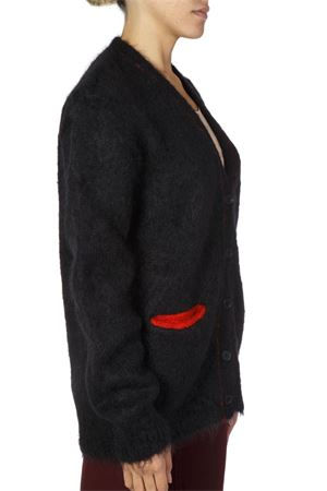 CARDIGAN BLU/ROSSO IN MOHAIR AI 2018 MAISON MARGIELA | 16 | S51GP0102S16425900