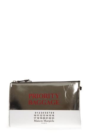 PRIORITY BAGGAGE WHITE & GOLD LEATHER CLUTCH FW 2018 MAISON MARGIELA | 2 | S56UI0118PR400H1144