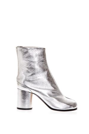 TABI SILVER LEATHER ANKLE BOOTS FW 2018 MAISON MARGIELA | 52 | S58WU0241PR695T9002
