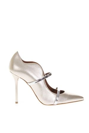 GOLDEN PUMPS IN LAMINATED LEATHER FW 2018 MALONE SOULIERS | 48 | MAUREEN100-35GOLD/SILVER