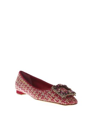 CAZA PINK WOOL & SUEDE SLIPPERS SHOES FW 2018 MANOLO BLAHNIK | 150 | CAZA HOFF2265 0109707