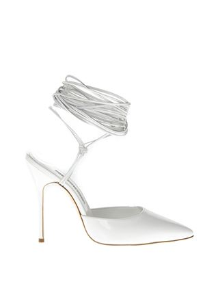 PATENT WHITE HIGH LEATHER SANDALS FW 2018 MANOLO BLAHNIK | 87 | PRYSCALINEPICK FABIO 1151012