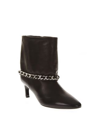 BLACK LEATHER ANKLE BOOTS FW 2018 MARC ELLIS | 52 | MA4028NAPPANERO/ARGENTO