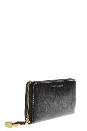 THE GRIND BLACK LEATHER CONTINENTAL WALLET FW 2018 MARC JACOBS | 34 | M0013603STANDARD001