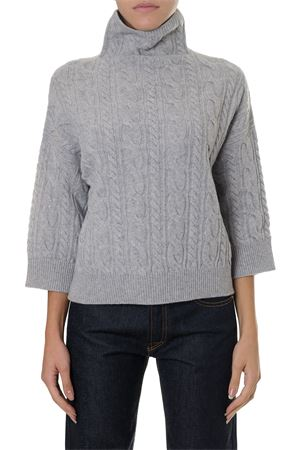 HIGH COLLAR GREY WOOL-CASHMERE BLEND  MAX MARA | 16 | 13661283000FUNGO008
