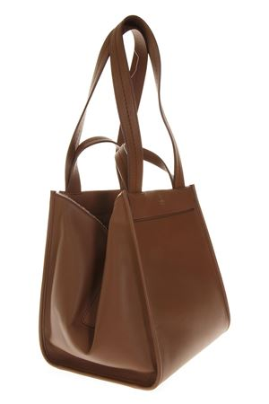 BROWN ANIT TOTE OPEN TOP LEATHER BAG FW 2018 MAX MARA | 2 | 45160687000ANIT2L009