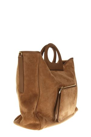 SUEDE CLASSIC TOTE BAG IN CAMEL COLOR FW 2018 MAX MARA | 2 | 45162883600GRAC11L002