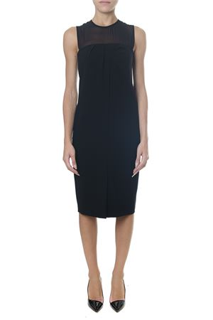 BLACK SILK & GEORGETTE INSERT DRESS FW 2018 MAX MARA | 32 | 8226118600KATANA003