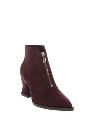 BURGUNDY SUEDE ANKLE BOOTS FW 2018 McQ ALEXANDER MCQUEEN | 52 | 511985R25466016