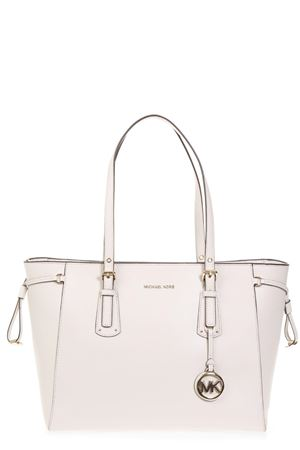 CREAM LEATHER BAG FW 2018 MICHAEL MICHAEL KORS | 2 | 30T8TV6T8LVOYAGER MD MF TZ TOTE289