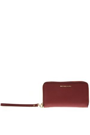 3cb0fa76bf0d82 RED MERCER WALLET IN LEATHER FW 2018 MICHAEL MICHAEL KORS | 34 |  32F6GM9E3LUNI550 ...