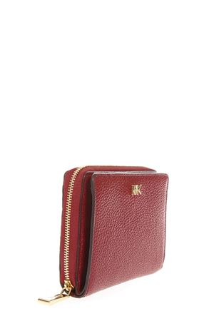RED LEATHER WALLET FW 2018 MICHAEL MICHAEL KORS | 34 | 32F8GF6Z0LMONEY PIECES ZA SNAP WALLET550