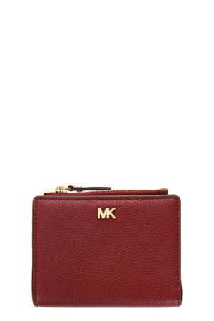 RED LEATHER WALLET FW 2018 MICHAEL MICHAEL KORS | 34 | 32T8GF6F2LMONEY PIECES MD SNAP BILLFOLD550