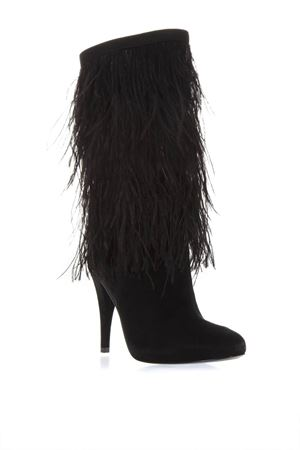 ef37fb3fd5a97e ... BLACK SUEDE BOOTS WITH DECORATIVE FEATHERS APPLIED FW 2018 MICHAEL  MICHAEL KORS | 52 | 40F8ASHE5SASHA