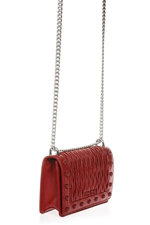 RED QUILTED LEATHER SHOULDER BAG FW 2018 MIU MIU | 2 | 5BD086VN88F068Z