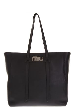MIU MIU BLACK LEATHER SHOPPING BAG FW 2018 MIU MIU | 2 | 5BG1322BYAF0002