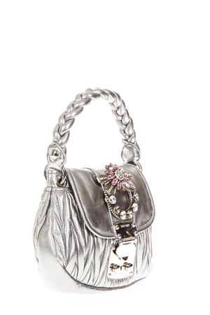 ... EMBELLISHED METALLIC LEATHER HAND BAG FW 2018 MIU MIU  97f0d15da0ae4