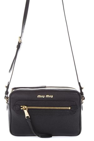 BLACK LEATHER CAMERA BAG FW 2018 MIU MIU | 2 | 5BH1162AJBF0002