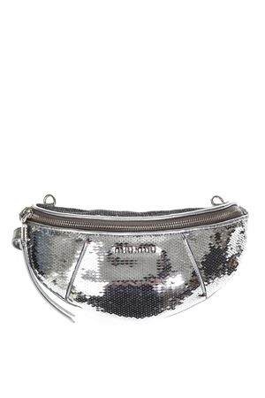 SILVER COLOR SEQUINED BELT BAG FW 2018 MIU MIU | 2 | 5BL010959F0118