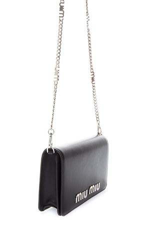 BLACK LEATHER SHOULDER BAG WITH LOGO LETTERING FW 2018 MIU MIU | 2 | 5BP0042E6YF0002