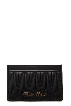 BLACK QUILTED LEATHER CARDHOLDER FW 2018 MIU MIU | 110000025 | 5MC208N88F0002