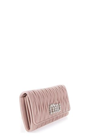 EMBELLISHED LOGO QUILTED ORCHID LEATHER WALLET FW 2018 MIU MIU | 34 | 5MH1092BSQF0615