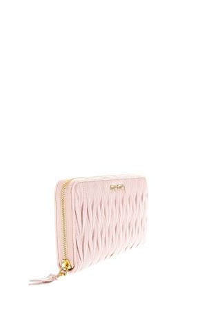 PINK MATELASSÉ LEATHER WALLET FW 2018 MIU MIU | 34 | 5ML506N88F0615