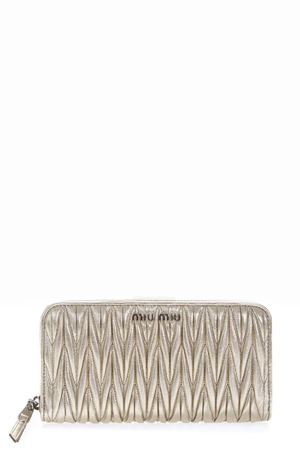 GOLD MATELASSÉ LEATHER WALLET  FW 2018 MIU MIU | 34 | 5ML506N88F0PLI