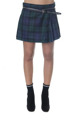 BLU PLEATED PLAID MINI SKIRT FW 2018 MIU MIU | 26 | MG11661RV2F0008