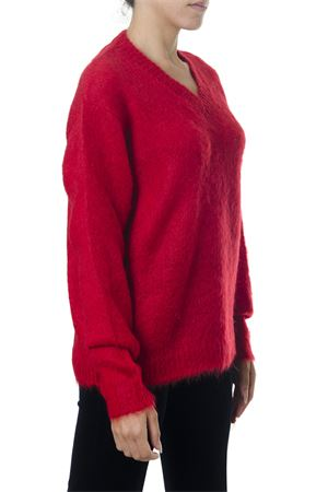 V-NECK RED MOHAIR BLEND JUMPER FW 2018 MIU MIU | 16 | MML1431CT5F0011