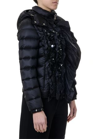 BLACK DOWN JACKET WITH FRONTAL RUFFLES AND SEQUINS FW 2018 MONCLER GENIUS | 27 | 46302865396QDARCY999