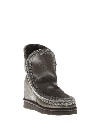 ESKIMO LIGHT SILVER WOOL & LEATHER BOOTS FW 2018 MOU | 52 | MU.INTESKIMOSHO/MG/LAPPONIA