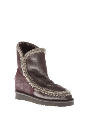 ESKIMO WINE COLOR WOOL & LEATHER BOOTS FW 2018 MOU | 52 | MU.INTESKIMOSHO/MG/WINE